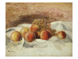 Still Life with Peaches Giclee Print by Pierre-Auguste Renoir
