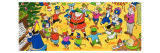 Mr Toad's Christmas Party Giclee Print by English School