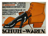 shoe Shops', Zurich Giclée-tryk af German School