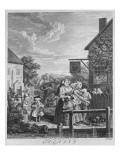Times of the Day, Evening, 1738 Giclee Print by William Hogarth