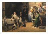Pris En Plein Sieste, 1842 Giclee Print by Jean-Baptiste Madou