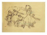 Group of Dancers, C.1890-95 Giclee Print by Edgar Degas