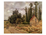 The Road to Osny, 1872 Reproduction giclée Premium par Camille Pissarro