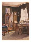 Theodor Fontane's Study Giclée-tryk af German School