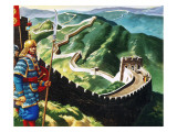 The Great Wall of China Giclee Print by Ron Embleton