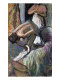 Breakfast after the Bath Premium Giclee Print by Edgar Degas