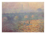 Waterloo Bridge, 1900 Giclee Print by Claude Monet