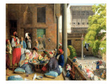 The Midday Meal, Cairo, 1875 Giclee Print by John Frederick Lewis