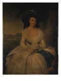 Portrait of Lady Gordon Giclee Print by  Romney