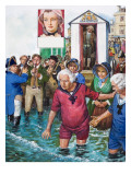 King George Iii Bathing Giclee Print by Clive Uptton