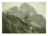 Western Trail, the Rockies Giclee Print by Albert Bierstadt