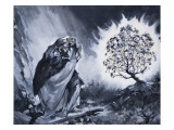 Moses and the Burning Bush Giclee Print by McConnell 