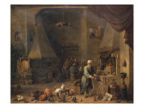 The Alchemist at Work Giclee Print by  Teniers