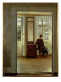 A Lady in an Interior Gicleetryck av Carl Holsoe