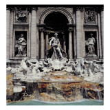 Trevi Fountain, Built 1732-62 Giclee Print by Nicola Salvi