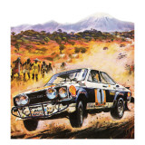 East African Safari Rally Giclee Print by Graham Coton