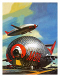 Super-Blimps of the Future Giclee Print by Wilf Hardy