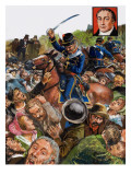 The Peterloo Massacre, 1980 Giclee Print by Clive Uptton