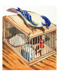 Tom Thumb in a Bird Cage, 1957 Giclee Print by Eduardo Teixeira Coelho