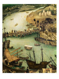The Port of Seville, C.1590 Giclee Print by Alonso Sanchez Coello