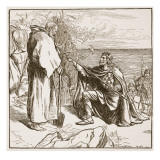 Egfrid Entreating St. Cuthbert Giclee Print by F.h. Townsend
