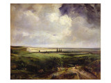 View of Rouen, 1831 Giclee Print by Paul Huet