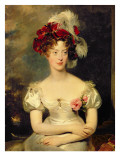 Marie-Caroline De Bourbon Giclee Print by Thomas Lawrence