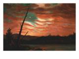 Our Banner in the Sky Giclee Print by Frederic Edwin Church