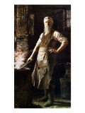 The Village Blacksmith Giclee Print by Thomas Hovenden