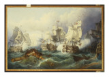 The Battle of Trafalgar Giclee Print by Philip James De Loutherbourg