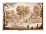 The Villa Conti Fountains, 1833 Giclee Print by Agostino Tofanelli