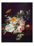 Vase of Flowers, 1695 Giclee Print by Rachel Ruysch