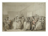Box-Bobby Loungers, 1785 Giclee Print by  Rowlandson