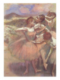 Four Dancers on Stage Giclee Print by Edgar Degas