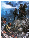 Gold Prospectors in New Zealand Giclee Print by Oliver Frey