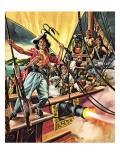 Men of the Jolly Roger Giclee Print by Ron Embleton