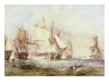 Battle of Trafalgar, 1805 Giclee Print by George Chambers