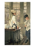Reading the News, C.1874 Giclee Print by James Jacques Joseph Tissot