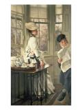 Reading the News, C.1874 Premium Giclee Print by James Tissot