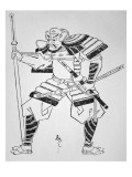 Unknown Japanese Warrior Reproduction procédé giclée par Japanese School