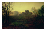 An October Afterglow, 1871 Premium Giclee Print by  Grimshaw