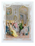A Literary Soiree, 1890 Giclee Print by Maurice Leloir