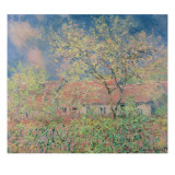 Springtime at Giverny, C.1880 Giclee Print by Claude Monet