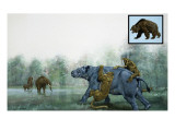 Pre-Historic Animals Giclee Print by David Nockels