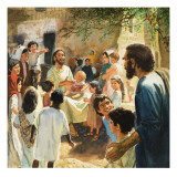 Christ with Children Wydruk giclee autor Peter Seabright