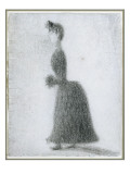 The Walker with a Muff, C.1884 Giclee Print by Georges Seurat