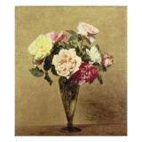 Roses in a Vase, 1892 Giclee Print by Henri Fantin-Latour