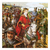Queen Isabella Invading England Giclee Print by Clive Uptton