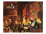 Victorian Music Hall Giclee Print by Peter Jackson
