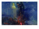Get Thee Hence, Satan! Premium Giclee Print by Ilya Efimovich Repin